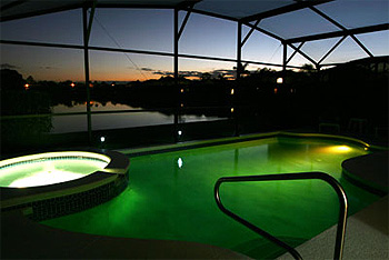 Pool & Spa at Night