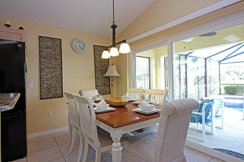 Breakfast Nook with Table and six chairs